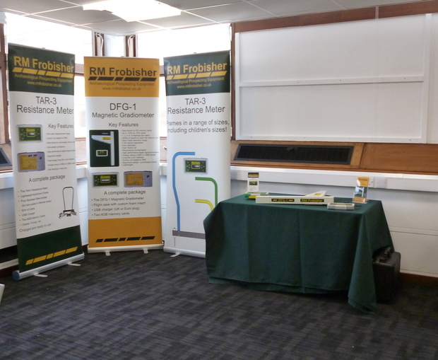 RM Frobisher's stand at Computer Applications and Quantitative Methods in Archaeology (Leicester)