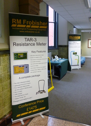 RM Frobisher's stand at The Greater Manchester Archaeology Day 2015
