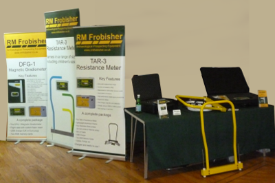 RM Frobisher's stand at the Our stand at the Romans and Natives in Central Britain, conference (Grassinton).