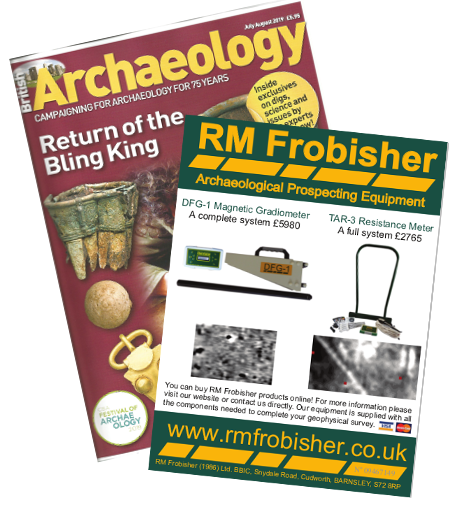 RM Frobisher are proud to advertise in British Archaeology