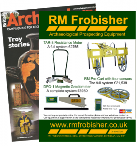 RM Frobisher advertise our products and our prices in the December 2019 issue of British Archaeology