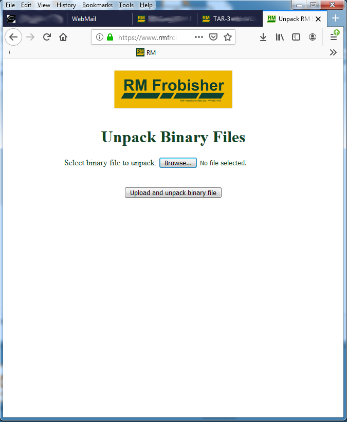 Unpack results using on-linne software